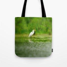 Marsh Egret Tote Bag