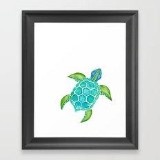 Watercolor Sea Turtle Framed Art Print