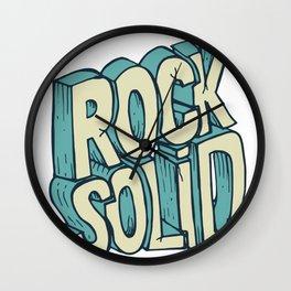 Rock Solid drawing Wall Clock