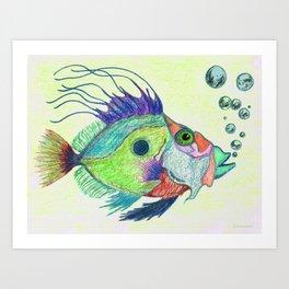Funky Fish Art - By Sharon Cummings Art Print