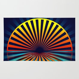 Sunset abstract 194 Rug
