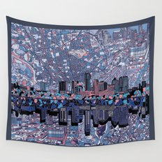 austin texas city skyline Wall Tapestry