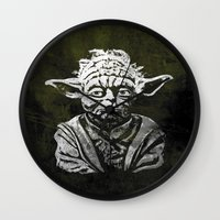 yoda Wall Clocks featuring Yoda by Some_Designs