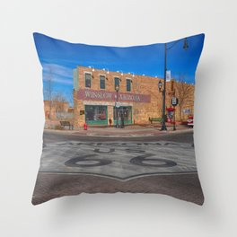 Standin on a corner in Winslow, Arizona Throw Pillow