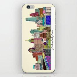 Philadelphia city sklyine iPhone Skin