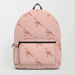 Kawaii Rufous Bellied Thrush Pattern Backpack