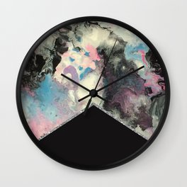 Marbled Solid Silver Wall Clock