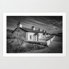 Pilot Cottages  Art Print