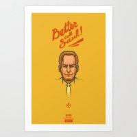 better call saul Art Prints featuring Better Call Saul by 9.ar7k