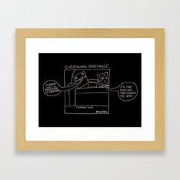 Christmas Grievance - Cushion Talk Framed Art Print