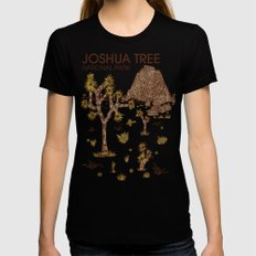 Joshua Tree National Park SMALL Black Womens Fitted Tee