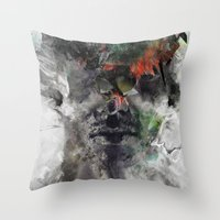 archan nair Throw Pillows featuring Another Memory by Archan Nair