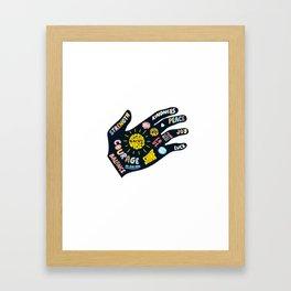 Positivity – Helping Hand Framed Art Print