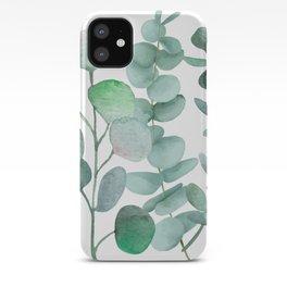 Watercolor, eucalyptus, leaves, botanical, foliage, plants, jungle decor iPhone Case