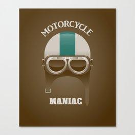 Motorcycle Maniac Canvas Print