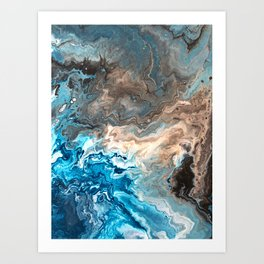 Earthy Waves 3 Art Print