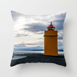 Lighthouse at the Point Throw Pillow