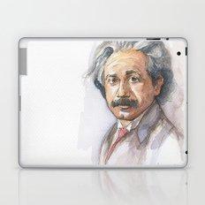 Albert Einstein Watercolor Portrait Laptop & iPad Skin