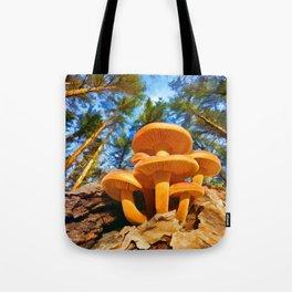 Blackbird Mushrooms Tote Bag
