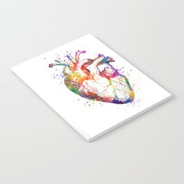 Heart Anatomy Art Heart Watercolor Art Anatomy Art Anatomical Heart Surgery Gift Medical Gift Notebook