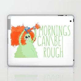 Urban monster Mornings can be rough Laptop & iPad Skin