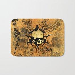 Awesome skul and crow Bath Mat