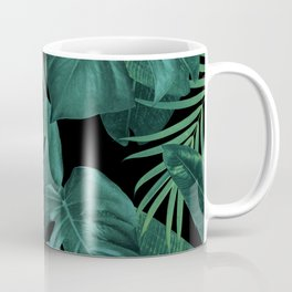 Tropical Summer Night Jungle Leaves Dream #1 #tropical #decor #art #society6 Coffee Mug
