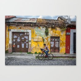 Antigua by bicycle Canvas Print
