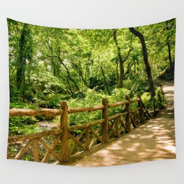 A Walk into the Forest (aka NYC Central Park) Wall Tapestry