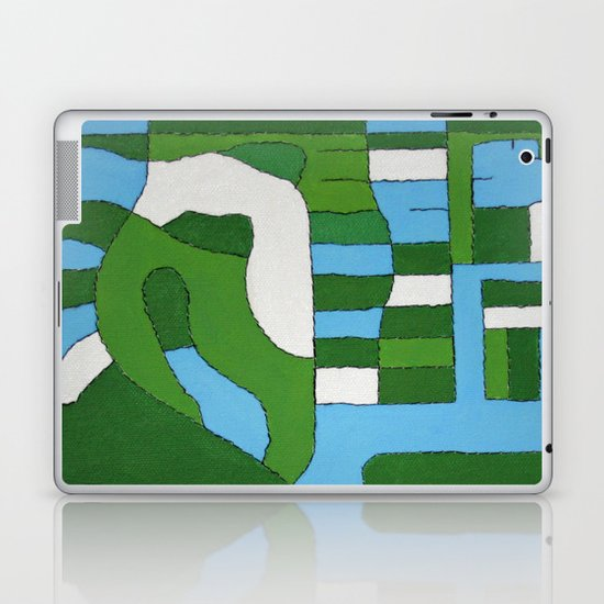 Green Map Laptop & iPad Skin
