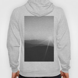 Sun on the Hill (Black and White) Hoody