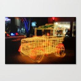 Lighting Vintage Car  Canvas Print