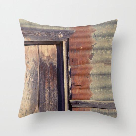Rusted Corner Throw Pillow