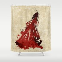 thor Shower Curtains featuring Thor Watercolor by Maude Serex