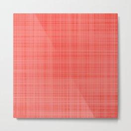 Living Coral Plaid_Tartan Pattern Metal Print