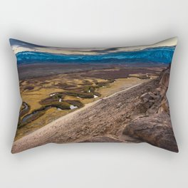 Owens River Floodplain At Sunset - Bishop - California Rectangular Pillow