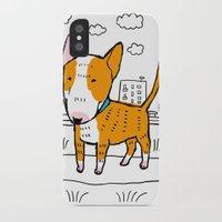 bull terrier iPhone & iPod Cases featuring bull terrier by Ellizavetta