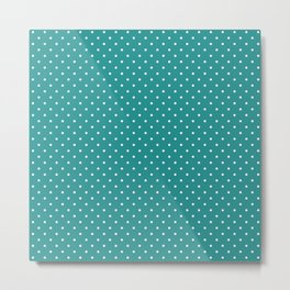 Dotted Turquoise Metal Print
