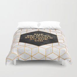 She believed she could so she did 2 Duvet Cover