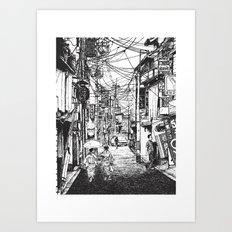 Kyoto Noodles Art Print