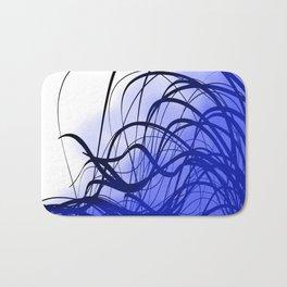 Blue Movement Bath Mat
