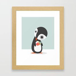 Pingu Loves Icecream Framed Art Print