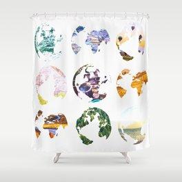 Globes Shower Curtain
