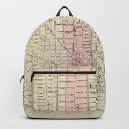 Vintage Map of Detroit Michigan (1886) Backpack