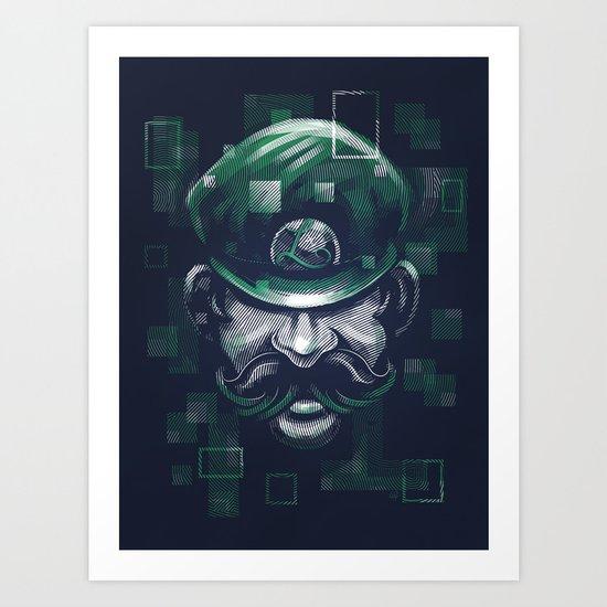 Depixelization L Art Print