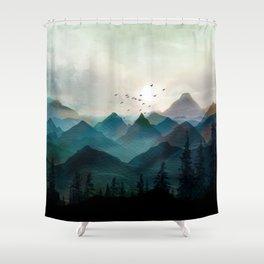 Mountain Sunrise II Shower Curtain