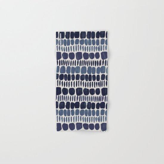 Painted Stones-Indigo Hand & Bath Towel
