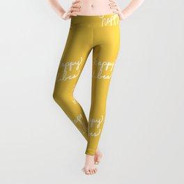 Happy Vibes Yellow Leggings