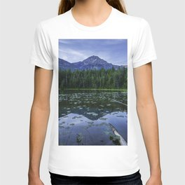 USA Johns Lake Glacier HDR Nature mountain park forest Scenery HDRI Mountains Parks Forests landscape photography T-shirt