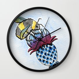 Thistle and Bee Wall Clock